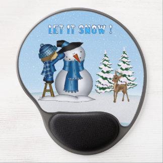 Let It Snow Snowman Gel Mouse pad