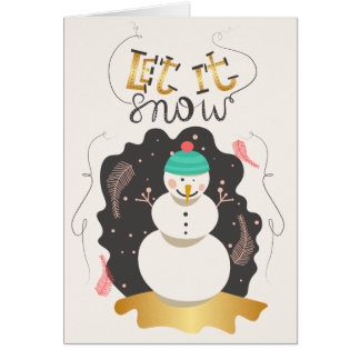 Let it Snow Snowman | Greeting Card