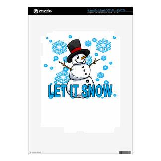 Let it snow snowman Hoodie . iPad 3 Skins