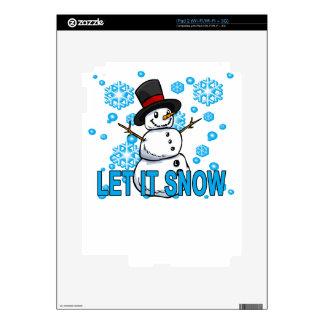 Let it snow snowman Hoodie . Skins For iPad 2