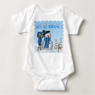 Let It Snow Snowman Infant Creeper