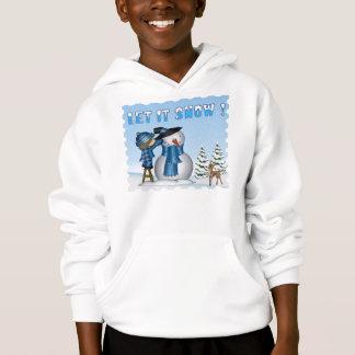 Let It Snow Snowman Kid's Hoodie