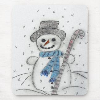 Let It Snow Snowman Mouse Pad