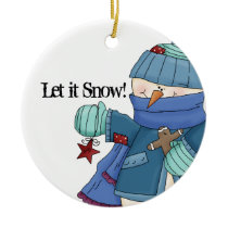 Let it Snow! Snowman Ornament 1