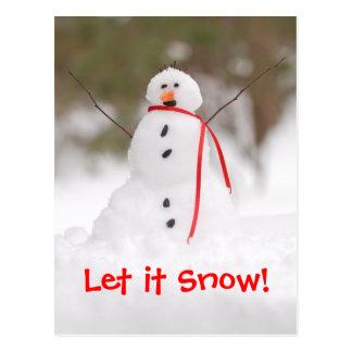 Let it Snow! Snowman Postcard