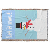 Let It Snow! Snowman Throw Blanket