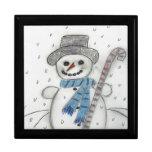 Let It Snow Snowman Trinket Boxes