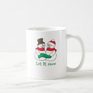 Let it Snow Snowmen Coffee Mugs