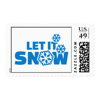 Let it snow stamps