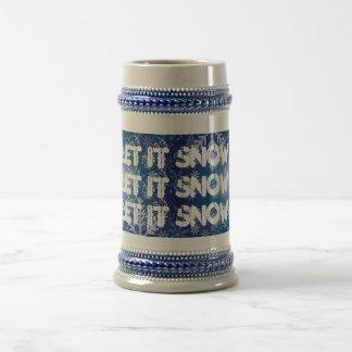 let it snow stein coffee mugs
