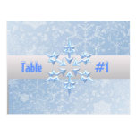 Let It Snow Table Number postcard