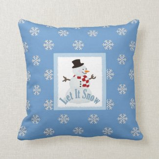 Let It Snow: Throw Pillow