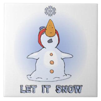 Let it Snow Tile Trivet