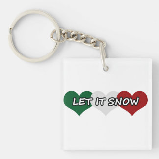 Let It Snow Triple Heart Keychain
