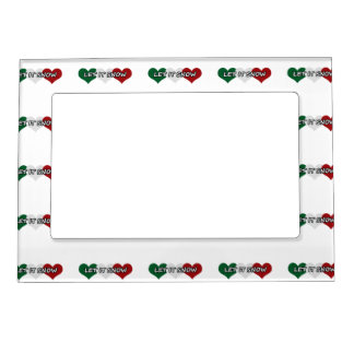 Let It Snow Triple Heart Magnetic Photo Frame