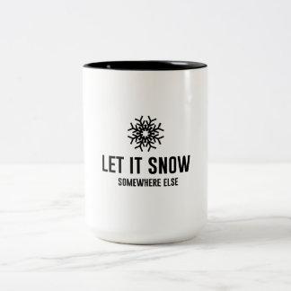 Let It Snow Two-Tone Coffee Mug