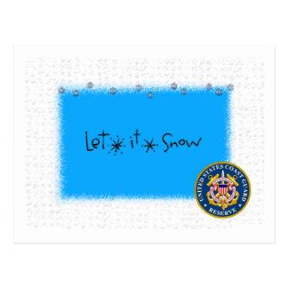 Let It Snow USCG Res Postcard