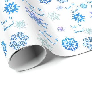 Let It Snow- White Wrapping Paper