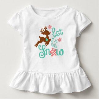Let it snow - Winter Christmas Design Toddler T-shirt