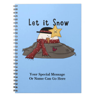 Let It Snow Winter Funny Cute Melted Snowman Spiral Notebook