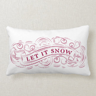 Let It Snow Winter Holiday Accent Pillow