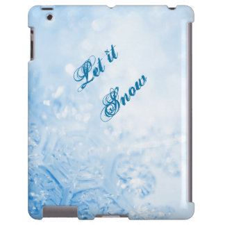 Let It Snow Winter Snowflake Phone Cover Case