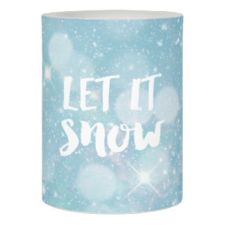 Let It Snow | Wintry Pale Blue Crystal Bokeh Flameless Candle