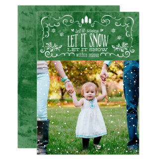 Let it Snow within Reason - Christmas Greeting Car Card