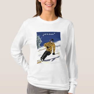 Let It Snow womens AA fitted hoodie