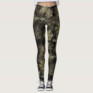 Let It Snow WordArt Leggings