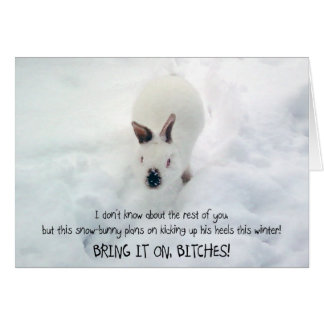 """""""Let it Snowbunny"""" Greeting Card :)"""