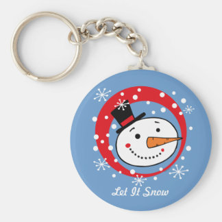 Let It Snowman Custom Keychain