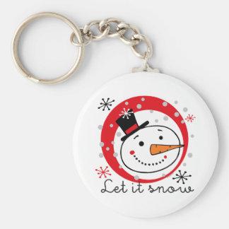 Let It Snowman Keychains