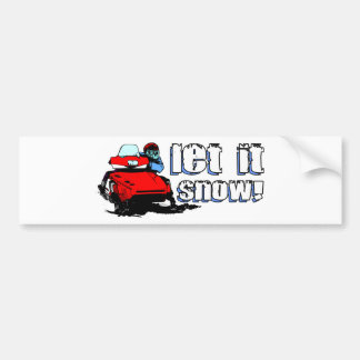 Let It Snowmobile Bumper Sticker