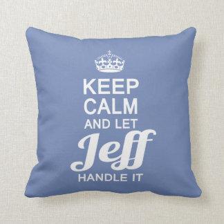 Let Jeff handle it! Throw Pillow