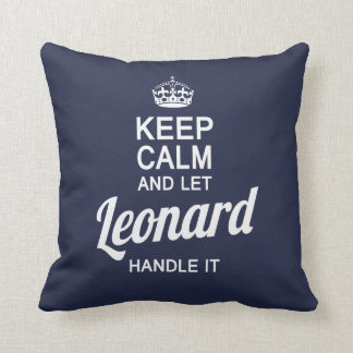 Let Leonard handle it! Throw Pillow