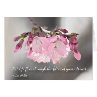 Let life flow through the filter of... greeting card