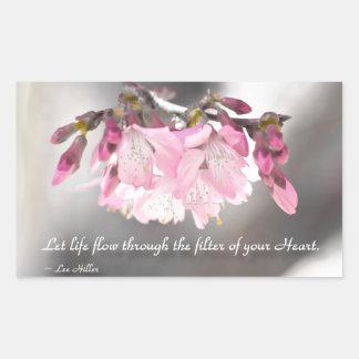 Let life flow through the filter of... rectangular sticker