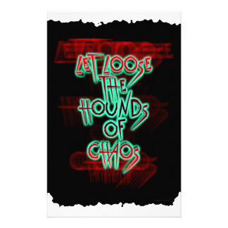 Let loose the hounds of chaos stationery