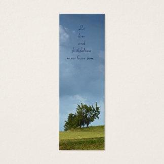 Let love and faithfulness - Proverbs 3 - Bookmark Mini Business Card