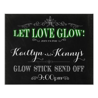Let Love Glow - Glow Stick Send Off 16x20 Poster