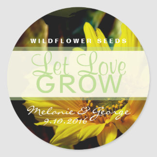 Let Love Grow Sunflower Stickers