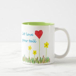 Let Love Grow Tall Two-Tone Coffee Mug