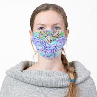 Let Love Guardian Angel Art Custom Face Masks