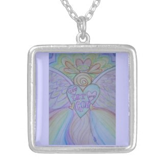Let Love Guardian Angel Jewelry Charm Necklaces
