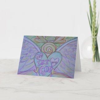 Let Love Let God Angel Art Greeting or Note Cards