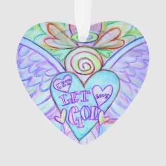 Let Love, Let God Angel Art Holiday Ornament