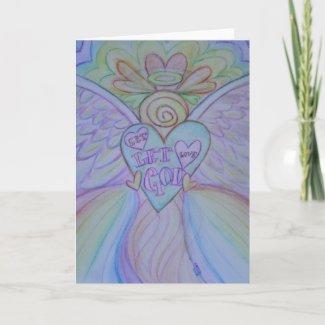 Let Love Let God Angel Art Note or Greeting Cards
