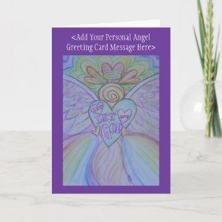 Let Love Let God Angel Custom Greeting Cards