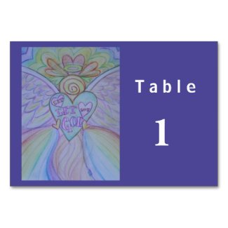 Let Love, Let God Angel Custom Table Cards